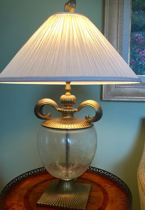 New and used lamp shades for sale in gardena ca offerup traditional glass and brass lamp mozeypictures Images