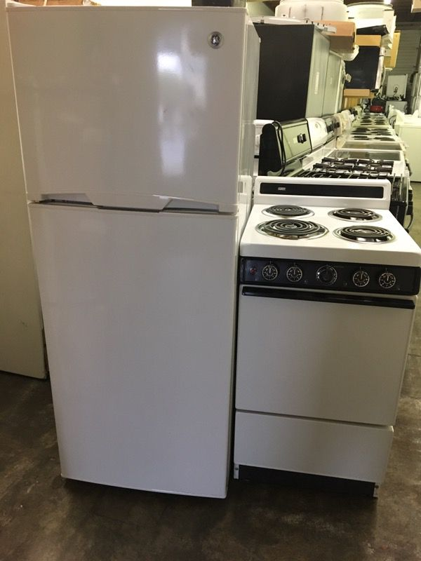 Ge Small Refrigerator And Roper Electric Stove Appliances In San
