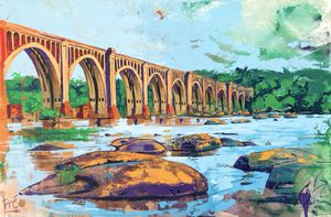 Original Painting of James River Railway Bridge