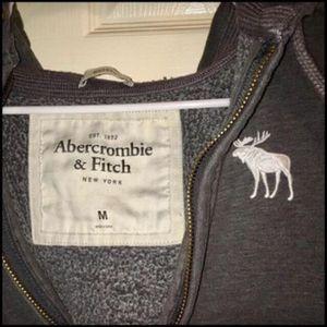 ORIGINAL Abercrombie M (MEDIUM) DARK GREY Hooded Hoodie