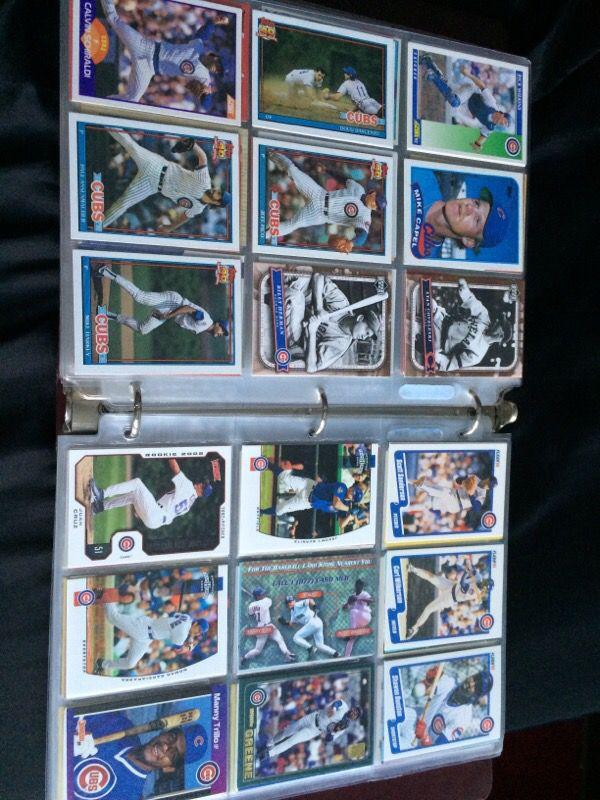 Cubs Baseball Cards 650 Business Equipment In Glen