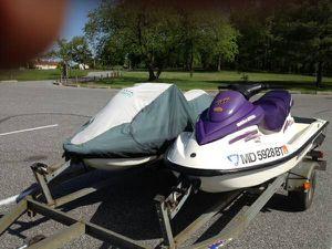 2 (Twin) 2003 Sea-Doo GTI Jet Skis with Load Rite Trailer SeaDoo ski