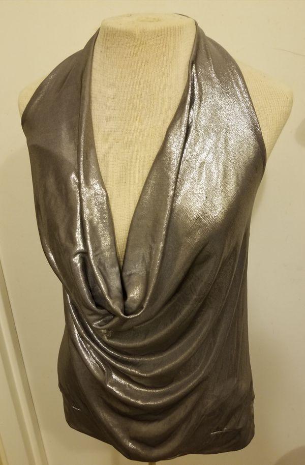 Silver Drape-Neck Halter