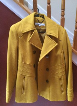 Kenneth Cole Marigold Peacoat-Size 12