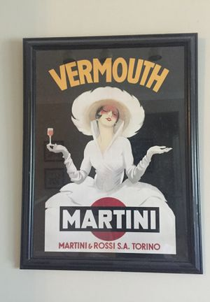 Martini and Rossi framed poster
