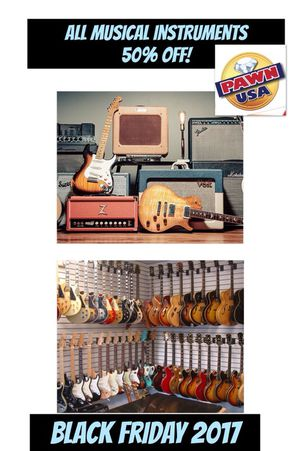 50% off all musical instruments!