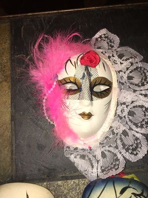 Mardi Gras ceramic decoration mask