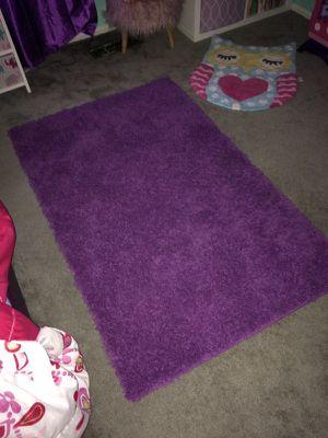 Purple shag rug