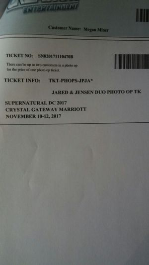 Creation Entertainment Supernatural Convention and Photo Op Tickets