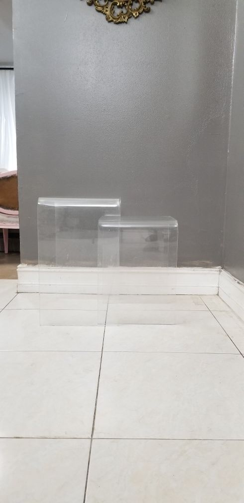 Vintage lucite nesting tables furniture in fort lauderdale fl vintage lucite nesting tables watchthetrailerfo