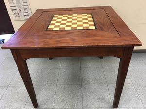 Game table chessboard +backgammon