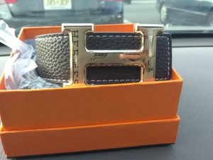 Hermes black and gold buckle