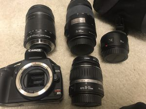 Cannon SLR Xti with four interchangeable lens