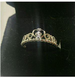 Silver Princess Tiara ring sz 7