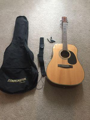 Starcaster fender beginner acoustic guitar set