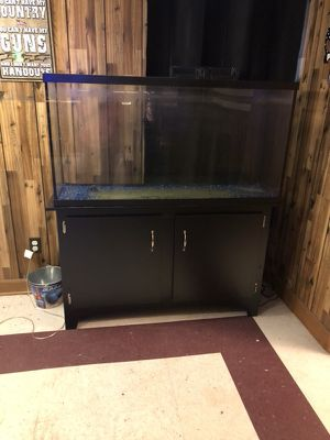 55 gallon tank and cabinet