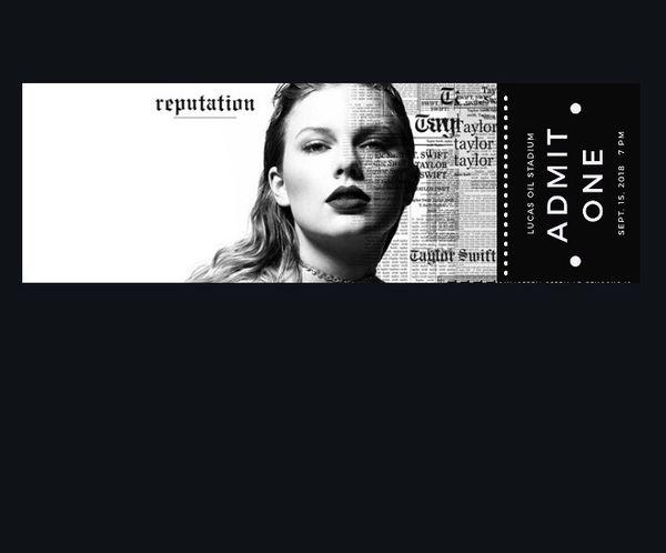 2 LOWER LEVEL. Taylor swift tickets. (Tickets) in ...