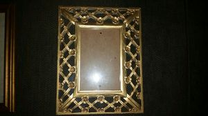 Bamboo and gold picture frames