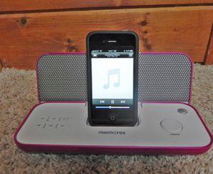 Memorex portable speaker- pink