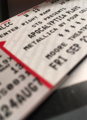 2 tickets + paid parking Apocalyptica Plays Metallica Seattle 9/22