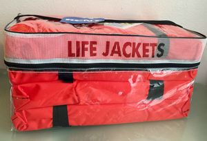 Kent Adult Life Jackets 4 Pack with Clear Storage Bag 90 lbs. and over