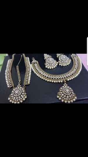 Bollywood style necklace set