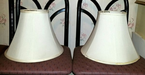 Two off white lamp shades general in cleveland oh offerup two off white lamp shades mozeypictures Choice Image