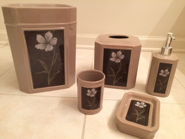 Bathroom Decor Set 5 Items Household In