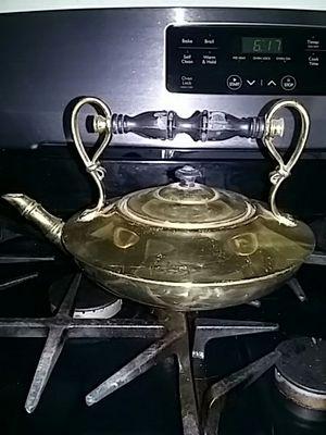 Old Brass Tea Pot