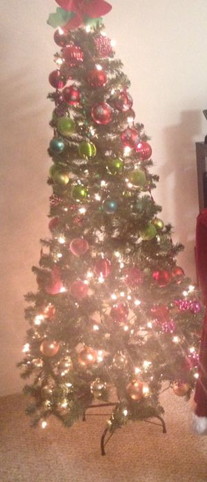 Christmas tree with ornaments & stand