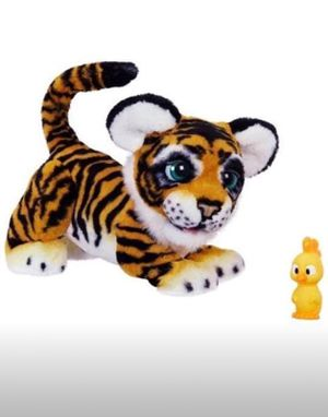 Sure to SELL OUT FOR CHRISTMAS!! The Roarin' Tyler, the Playful Tiger pet is ready to play. And his favorite way to play is to ROAR! Make noise and h