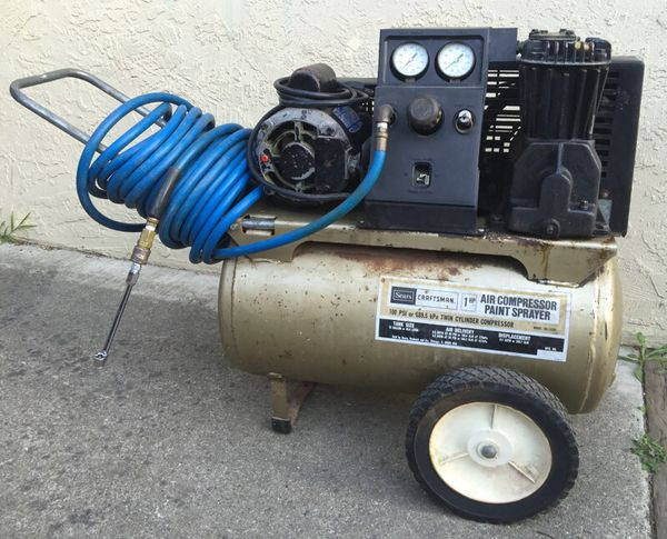 Sears Craftsman Air Compressor 12 Gallon 1hp Working In