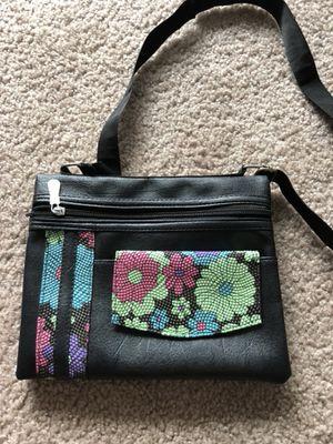 Black soft leather crossbody bag like new