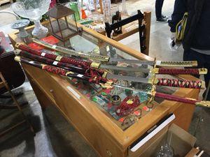 Various samurai swords