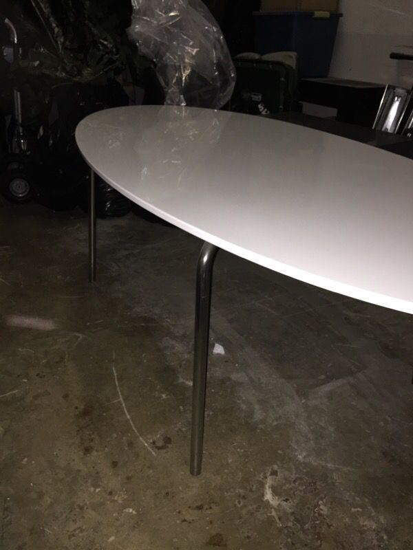 Large White Oval Dining Table IKEA GIDEA TABLE Home Garden