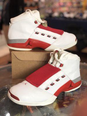 White varsity red 17s size 12