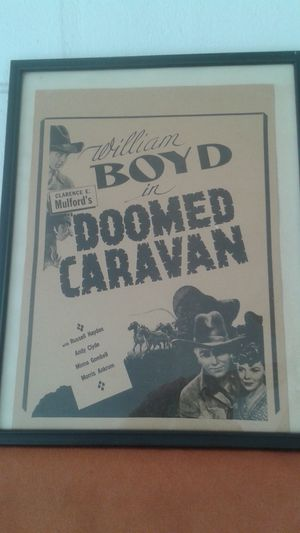 "1941 Hopalong Cassidy Movie Poster 13"" x 9.5"""