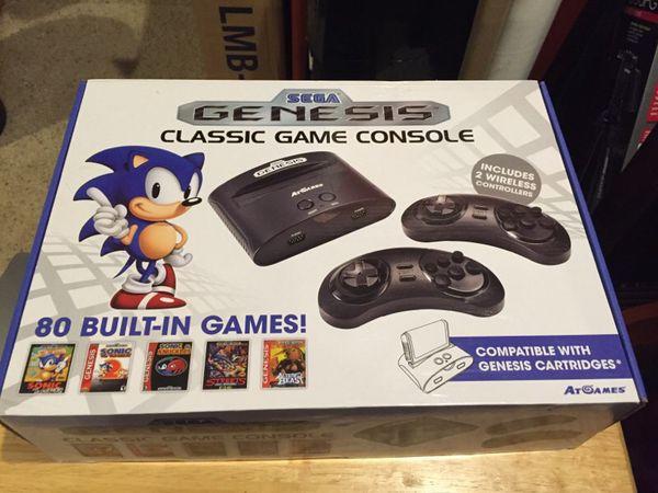 Sega genesis classic game console 80 built in games video - Sega genesis classic console with 80 built in games ...