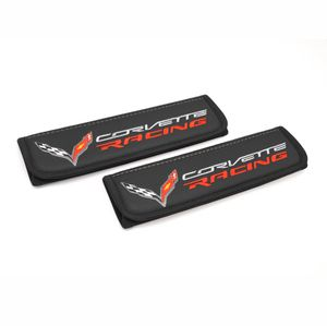 Chevy Corvette C7 Racing seat belt covers shoulder pads Interior accessories with emblem