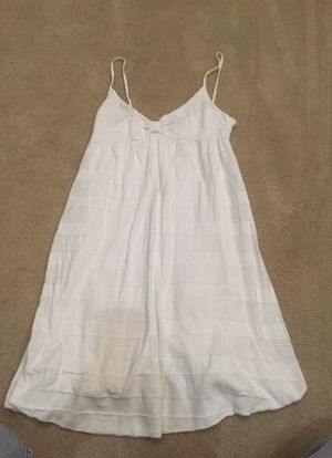 H&M white Cami long top or short sundress. Size 8, but looks like a small