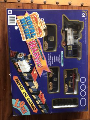 Royal Blue miniature train set - 19 pieces