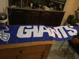 Large GIANTS banner - 2' x 8' - great condition