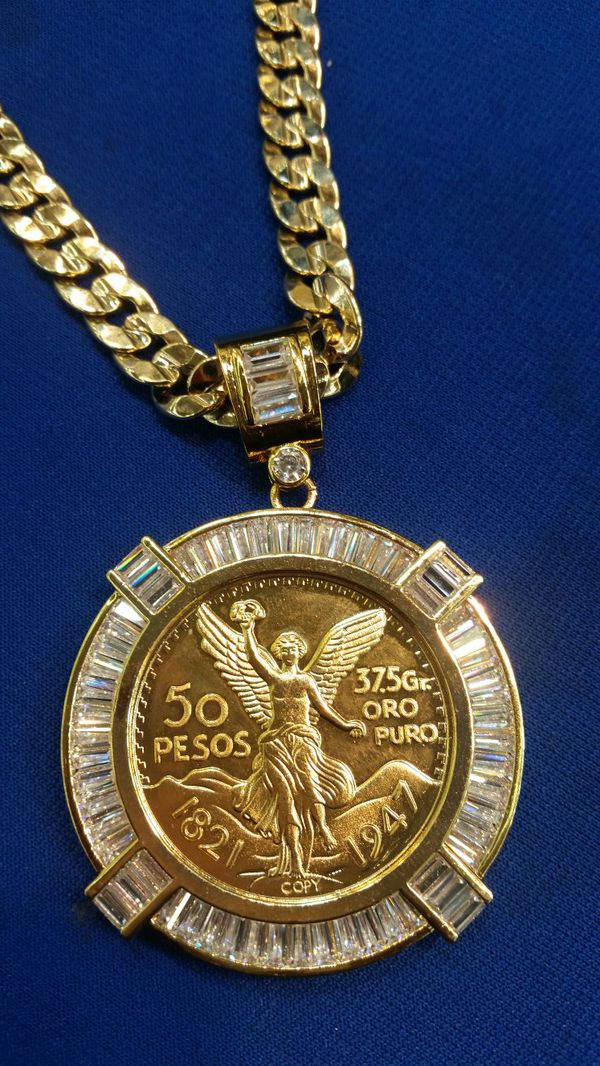 Centenario 50 pesos jewelry accessories in chicago il for Best place to sell gold jewelry in chicago