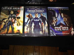Captain America Trilogy DVDs