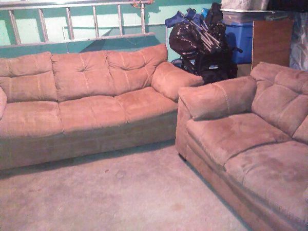 Tan suade couch (Furniture) in Philadelphia, PA