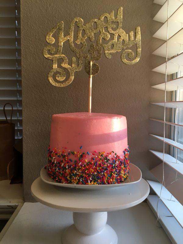 Terrific Custom Birthday Cakes General In Plano Tx Offerup Personalised Birthday Cards Petedlily Jamesorg