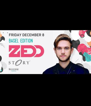 Male ticket for Zedd tonight at Story, Art Basel event
