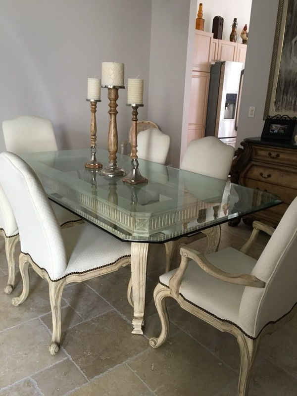 Drexel Heritage distressed dining room set in EXCELLENT CONDITION ...