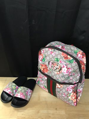 Book bag with slide