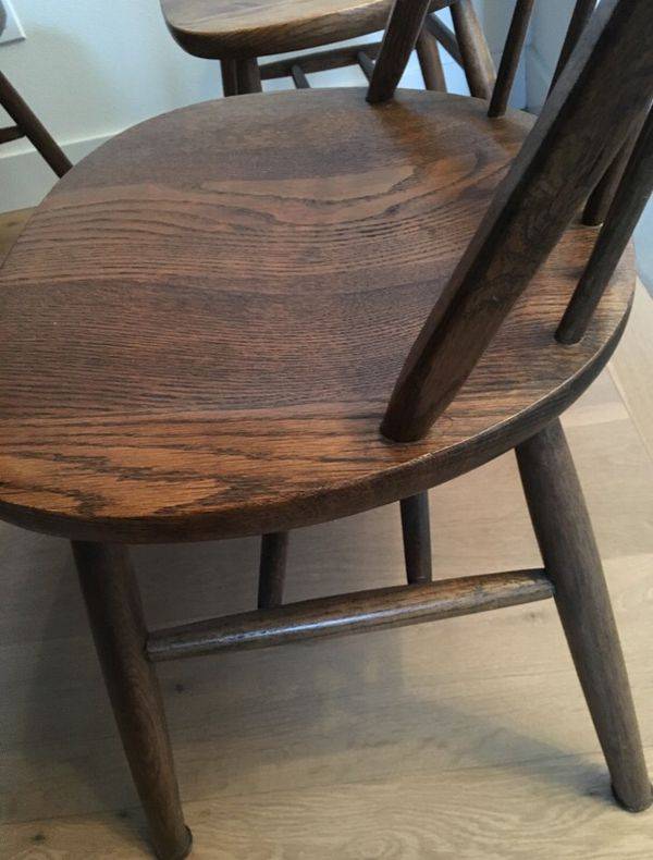 Solid oak dining chairs made in the usa furniture in for Furniture maker seattle